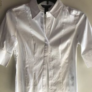 White House black market white collared shirt 6